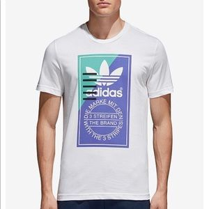 Adidas Men's Small White T-Shirt w/ Graphic NWT